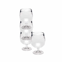 Stacking Acrylic Wine Glasses in Tube - Set/4