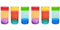 Striped Acrylic Tumblers Set/6  (2 of Each Colorway)