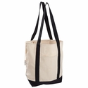 12 oz. Organic Cotton Canvas Boat Tote Bag: (EC8035)