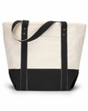 Seaside Zippered Cotton Tote: (1211)