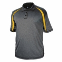 3347 Badger Adult Fusion Three Button Polyester Polo Shirt