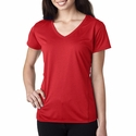 Ladies' Tech Short-Sleeve V-Neck: (G47V)