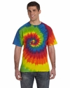 5.4 oz., 100% Cotton Tie-Dyed T-Shirt: (CD100)
