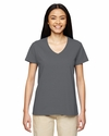 Heavy Cotton™ Ladies' 5.3 oz. V-Neck T-Shirt: (G500VL)