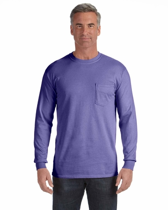 6.1 oz. Long-Sleeve Pocket T-Shirt: (C4410)