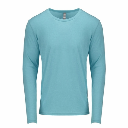 6071 Next Level Men's Tri-Blend Long-Sleeve Crew