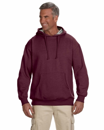 7 oz. Organic/Recycled Heathered Fleece Pullover Hood: (EC5570)