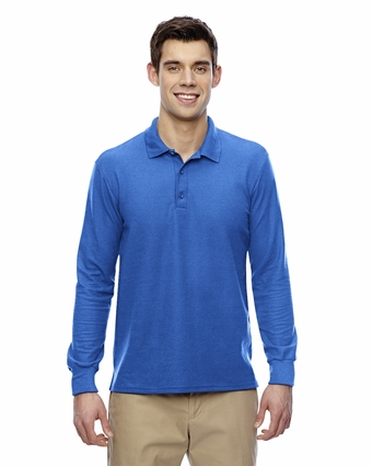 DryBlend Double Pique Long-Sleeve Polo: (G729)