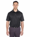 Men's Cool & Dry Jacquard Stripe Polo: (8220)