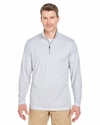 Adult Striped 1/4-Zip Pullover: (8235)