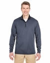 Adult 2-Tone Keyhole Mesh 1/4-Zip Pullover: (8237)