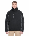 Adult Color Block 3-in-1 Systems Hooded Soft Shell Jacket: (8290)