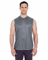 Adult Cool & Dry Sport Performance Interlock Sleeveless Tee: (8419)