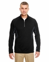 Adult Cool & Dry Color Block Dimple Mesh 1/4-Zip Pullover: (8434)