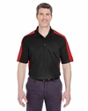 Adult Cool & Dry Stain-Release 2-Tone Performance Polo: (8447)