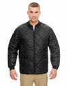 Adult Puffy Workwear Jacket with Quilted Lining: (8467)