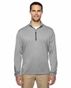 Brushed Terry Heather Quarter-Zip: (A274)