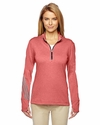 Ladies' Brushed Terry Heather Quarter-Zip: (A275)
