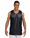 A4 Men's Tank Top: 100% Polyester Reversible Mesh (NF1270)