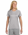 A4 Women's T-Shirt: 100% Polyester Interlock Cooling Performance Short Sleeve (NW3201)