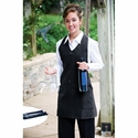 Adams Aprons  Apron: Mock Vest with Black Pinstrips Black Pinstripe w/ Mock Vest (AP36)