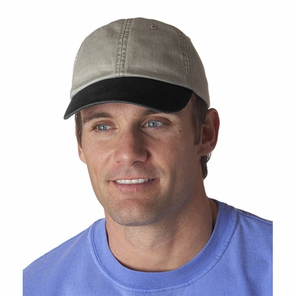 Adams Cap: 100% Cotton Two-Tone Stone Optimum (LP103)