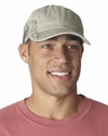Adams Headwear Cap: 100% Cotton Pigment Dyed w/ Windsurfer Pattern (LPWS1)