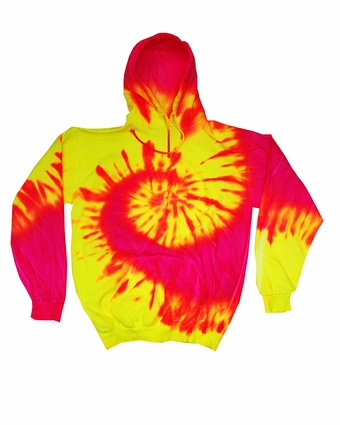 Adult Fluorescent Tie-Dyed Pullover Hoodie: (CD8700)