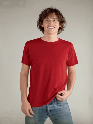 alternative Men's T-Shirt: 100% Cotton Tear-Away Label (AA1070)