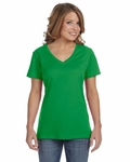 Anvil Women's T-Shirt: 100% Cotton Sheer V-Neck (392A)