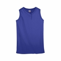 Augusta Sportswear Girls Softball Jersey: 50/50 2-Button Sleeveless (551)
