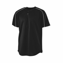 Augusta Sportswear Men's Baseball Jersey: 100% Polyester Mesh Contrast Piping 2-Button with Wicking (585)