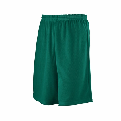 Augusta Sportswear Men's Shorts: 100% Polyester Mini-Mesh Longer Length 9-inch League (738)