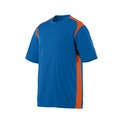Augusta Sportswear Men's T-Shirt: 100% Polyester Colorblock Gameday Crew with Moisture Wicking (1020)
