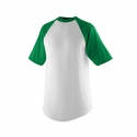Augusta Sportswear Youth Baseball Jersey: 50/50 Cotton Blend Contrast Raglan Short Sleeves (424)