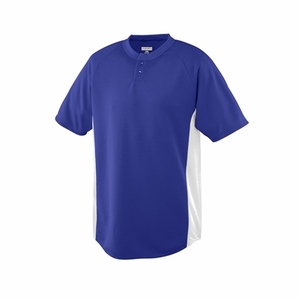 Augusta Sportswear Youth Jersey: 100% Polyester Mesh Wicking Colorblock 2-Button (539)