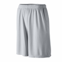 Augusta Sportswear Youth Shorts: 100% Polyester Wicking Mesh Longer Length 9-Inch with Pockets (814)