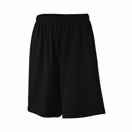 Augusta Sportswear Youth Shorts: 50/50 Jersey Longer Length 9-Inch with Inside Drawcord (916)
