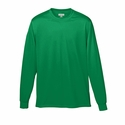 Augusta Sportswear Youth T-Shirt: 100% Polyester Wicking Knit Long Sleeve (789)