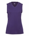 Badger Sport Girls T-Shirt: 100% Polyester B-Core Performance Sleeveless Lap V-Neck (2163)