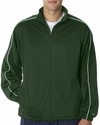 Badger Sport Men's Jacket: 100% Polyester Brushed Tricot Razor Pocketed Full-Zip with Piping (7701)