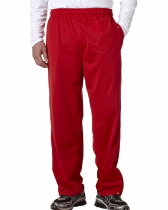 Badger Sport Men's Sweatpants: 100% Polyester Brushed Tricot with Pockets (B7711)