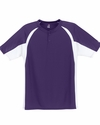 Badger Sport Men's T-Shirt: 100% Polyester Hook Color Block Placket (7938)