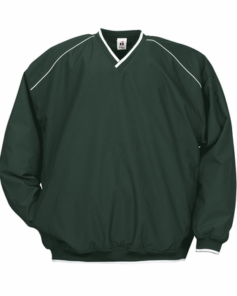 Badger Sport Men's Windshirt: 100% Polyester Sanded Microfiber/Taffeta Pocketed with Piping (7601)