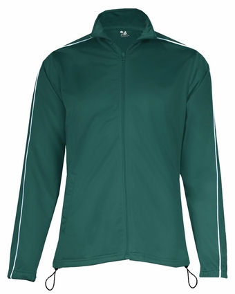 Badger Sport Women's Jacket: 100% Polyester Razor Pocketed Full-Zip with Piping (7901)