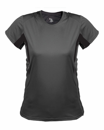 Badger Sport Women's T-Shirt: Performance Drive Color Block with Piping (4167)