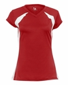 Badger Sport Women's T-Shirt: 100% Polyester Athletic Jersey Color Block Zone (6161)