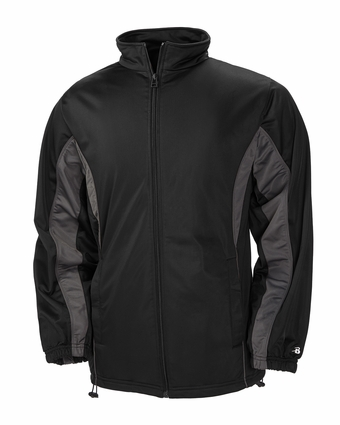 Badger Sport Youth Jacket: 100% Polyester Brushed Tricot Drive Two-Toned Full-Zip with Pockets (B2703)