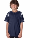 Badger Sport Youth T-Shirt: 100% Polyester Performance Pro 2-Button Henley (2937)