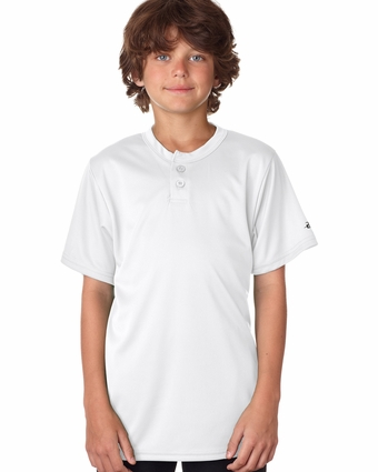 Badger Sport Youth T-Shirt: 100% Polyester B-Dry Core 2-Button Henley (2930)